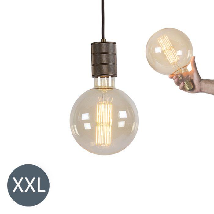 Suspension-Megaglobe-bronze-avec-ampoule-LED-dimmable