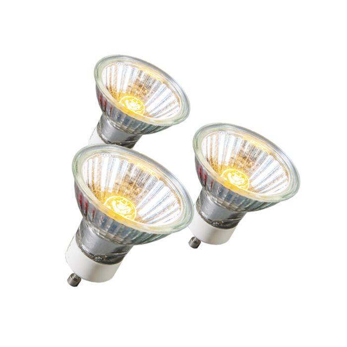 Ampoule-Halogène-GU10-18W-95LM-230V-Pack-de-3