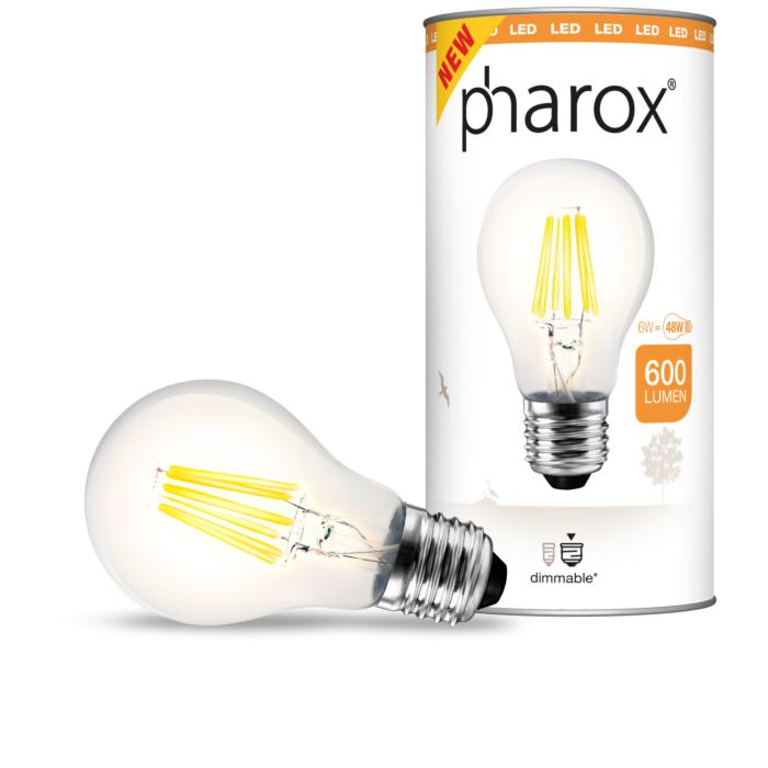 Ampoule-LED-à-filament-Pharox-A60-Clear-600-lumen