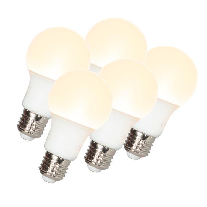 Ampoules-LED-A60-E27-9W-3000K-Pack-de-5