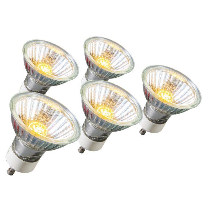 Ampoule-Halogènen-GU10-18W-95LM-230V-Pack-de-5