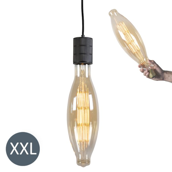 Suspension-Elips-noir-avec-ampoule-LED-dimmable