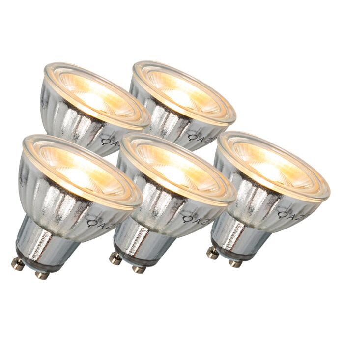 Ampoule-LED-GU10-7W-500LM-3000K-dimmable-Pack-de-5