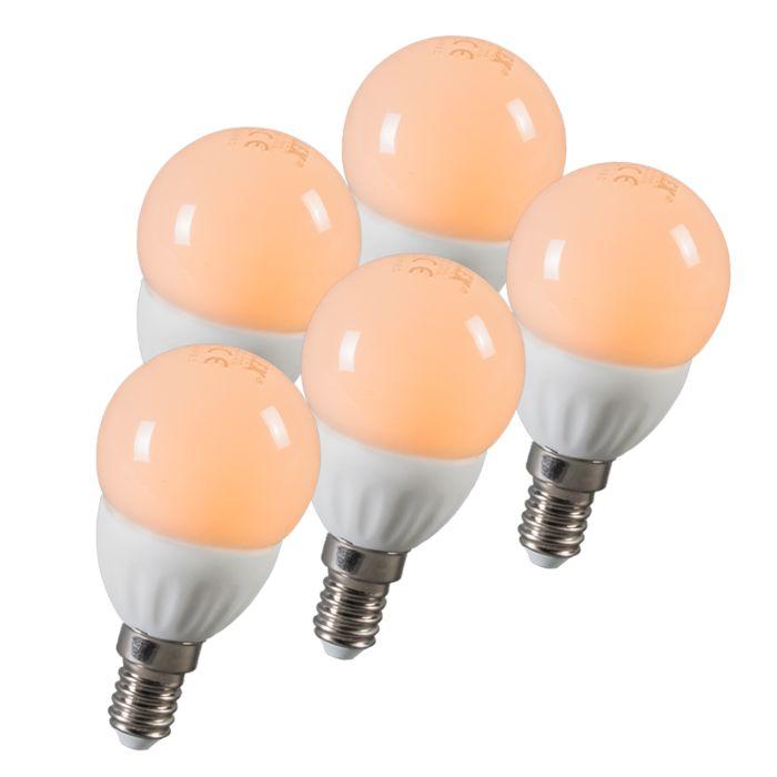 Ampoule-LED-balle-E14-3W-250-lumen-ca.-25W-Pack-de-5