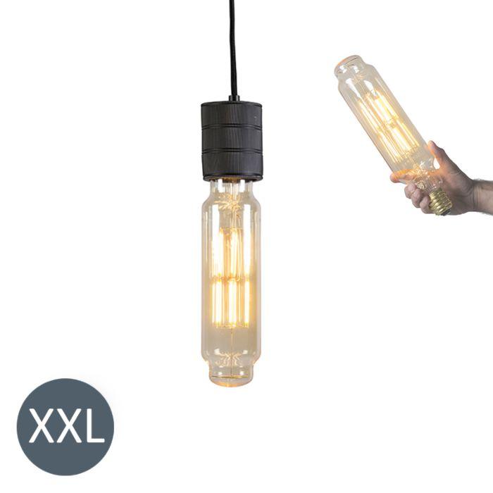 Suspension-Tower-noir-avec-ampoule-LED-dimmable