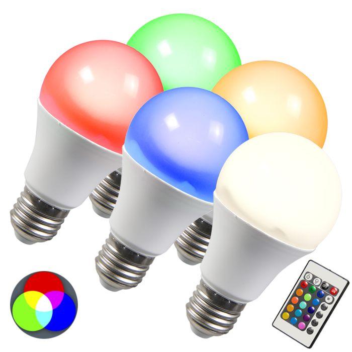 Ampoule-LED-RGB-E27-3W-Pack-de-5