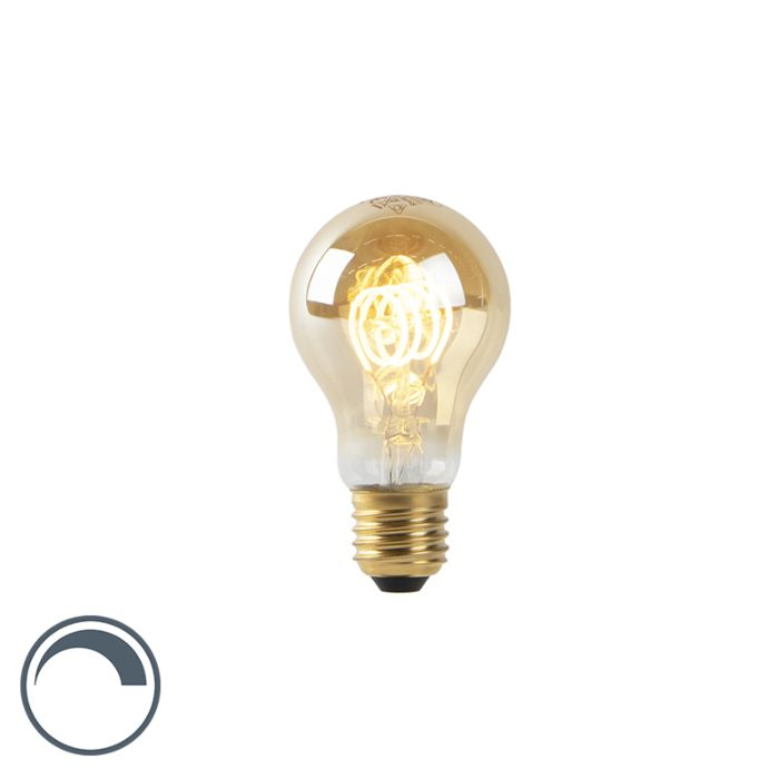 Lampe-à-LED-A60-E27-4W-2200K-filament-spirale-en-or-dimmable