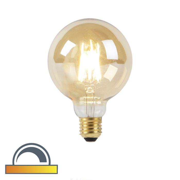 Lampe-à-LED-G95-E27-8W-2000-2600K-dim-à-chaud-filament-goldline