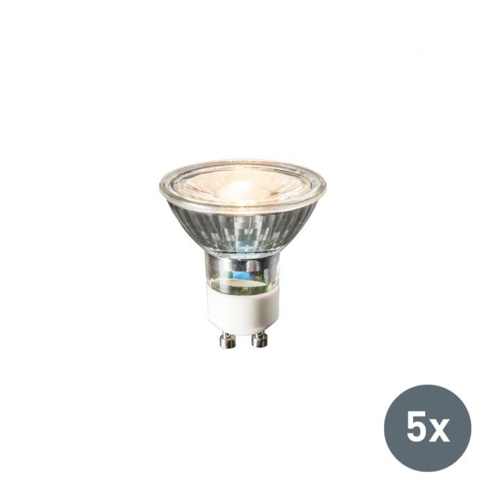 Set-de-5-ampoules-LED-GU10-240V-3W-230lm-blanc-chaud
