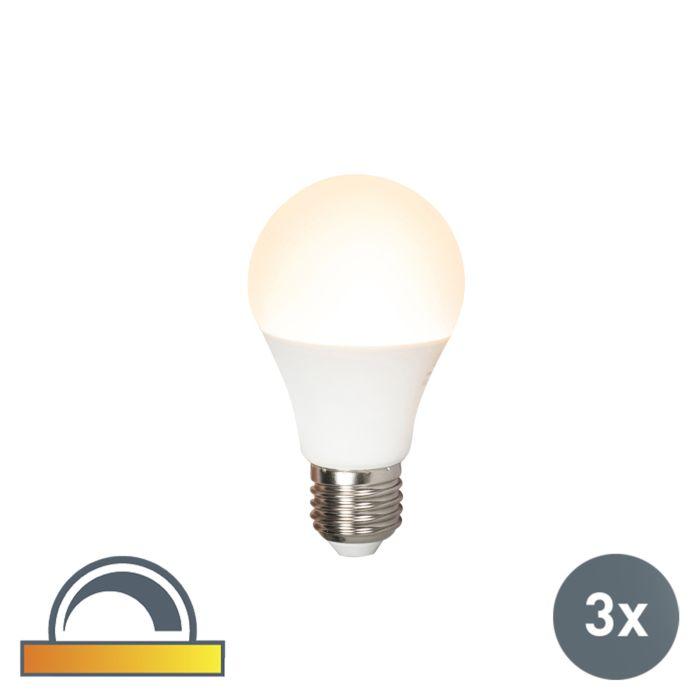 Lot-de-3-lampes-LED-E27-240V-7W-510lm-A60-dimmable