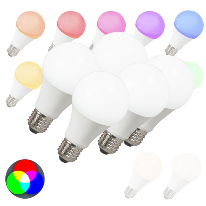 Set-de-5-ampoules-LED-E27-240V-7W-500lm-A60-Smart