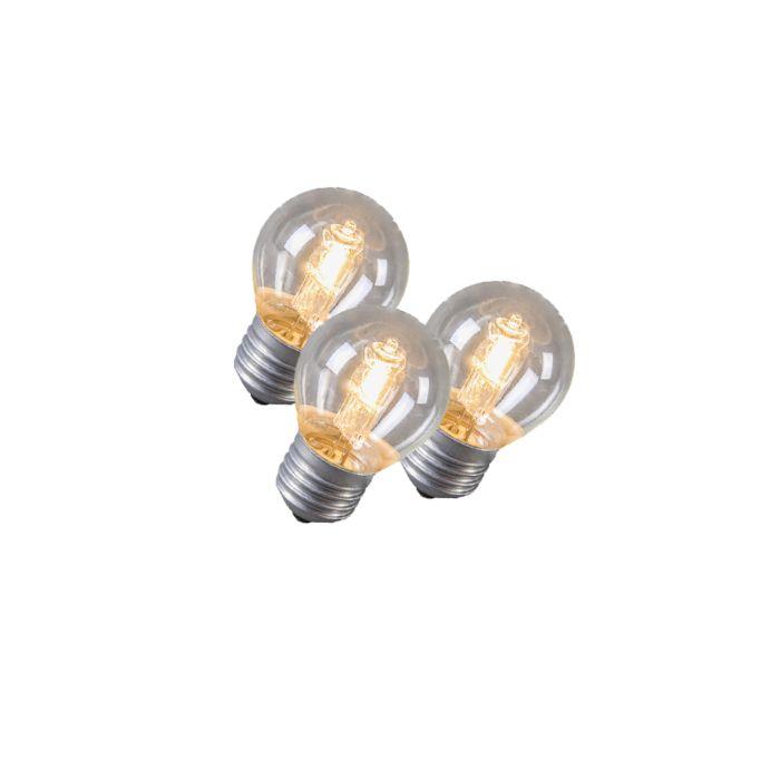 Set-de-3-ampoules-halogènes-E27-42W