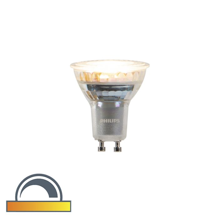 Lampe-LED-Philips-GU10-dim-à-chaud-3,7-W-260-lm-2200K---2700K