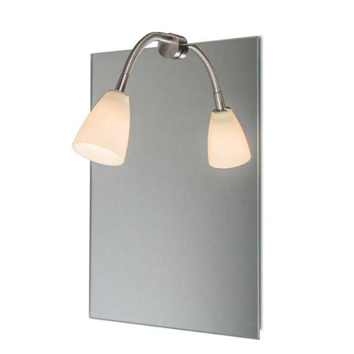 Éclairage-miroir-Curvus-acier