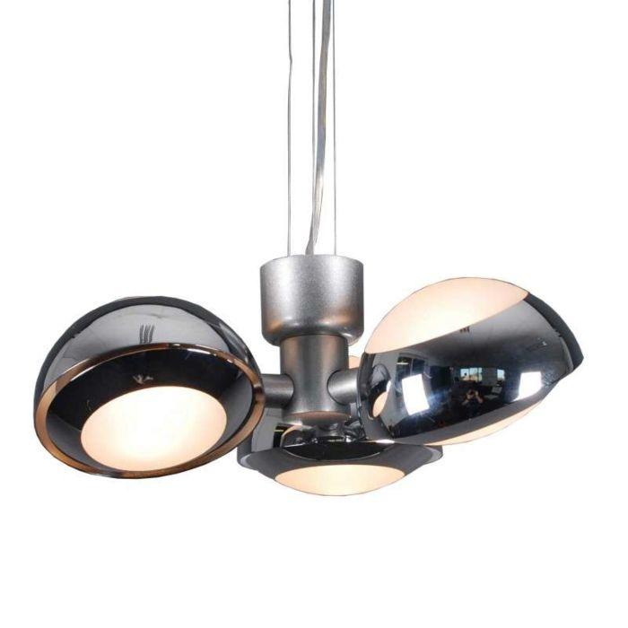 Suspension-Curio-3-lumières-chrome