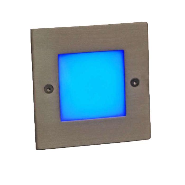 Applique-LED-encastrée-LED-lite-carré-bleu-10-cm