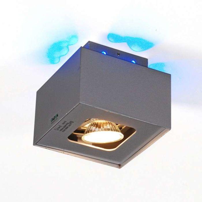 Spot-Box-S-aluminium-à-LED-bleues