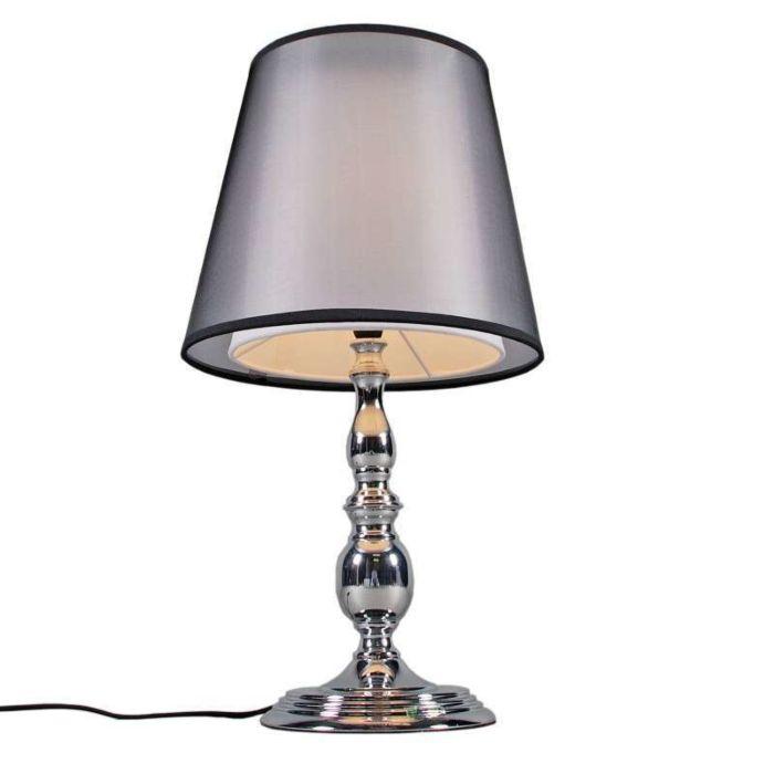 Lampe-de-table-Mythos-chrome-double-abat-jour