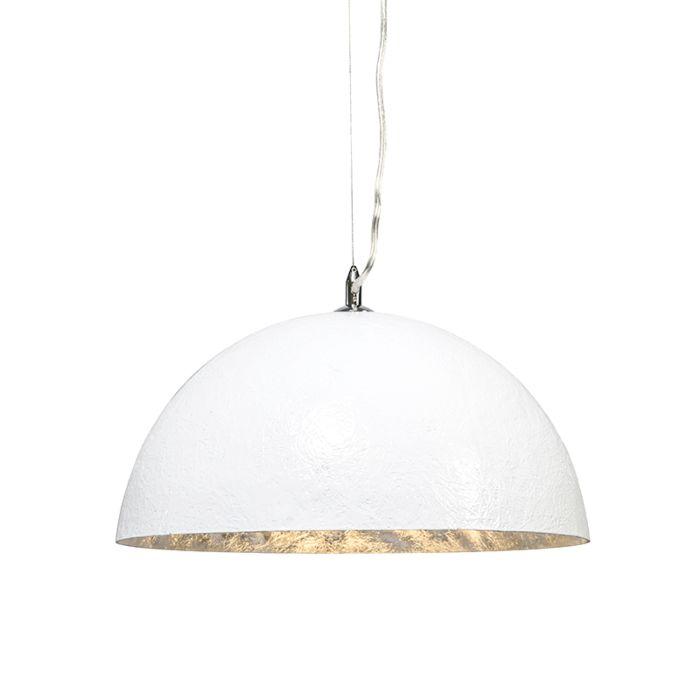 Suspension-Magna-40-cm-blanc---argenté