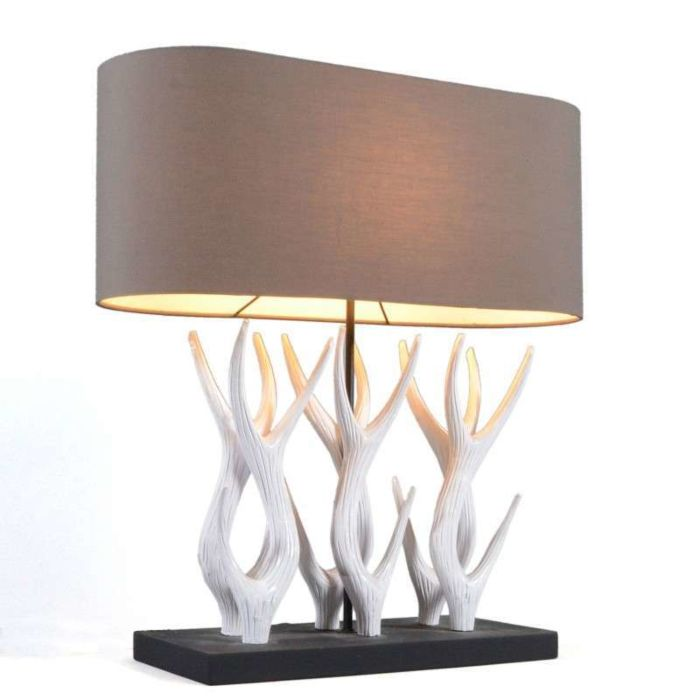 Lampe-de-table-Yindee-Recta-60-cm-blanc-abat-jour-marron