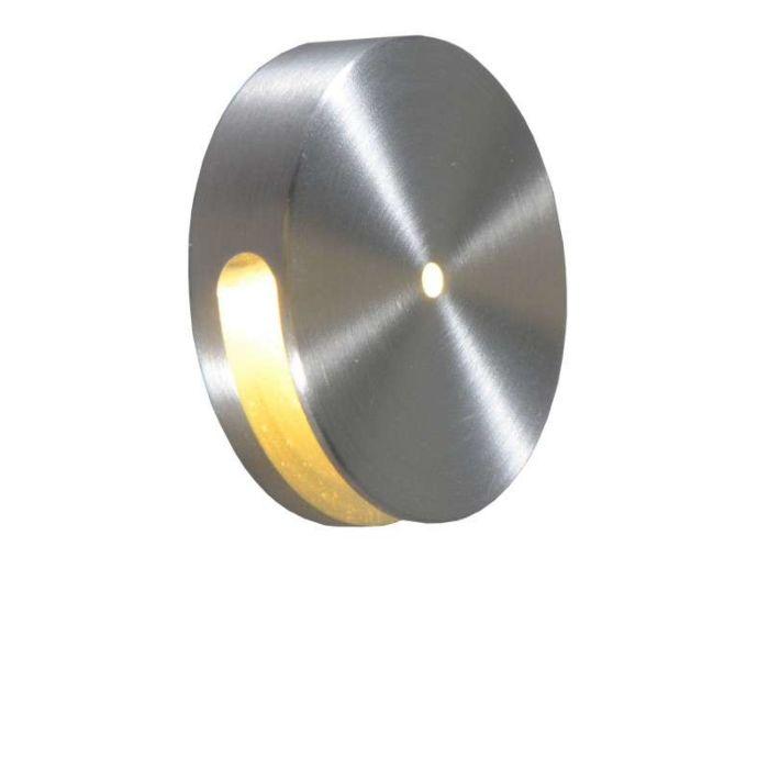 Applique-murale-à-encastrer-Quartz-ronde-I-aluminium