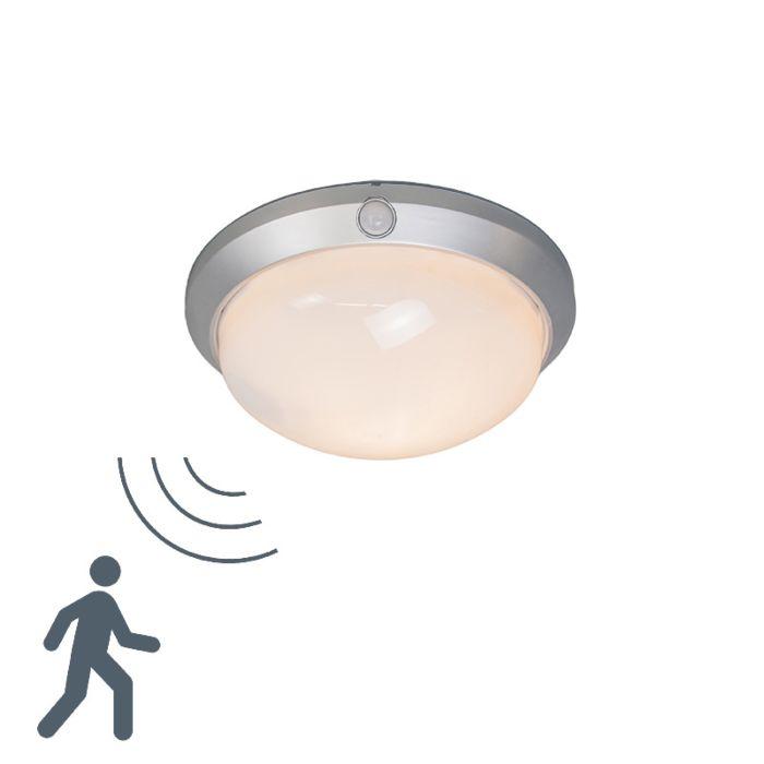 Plafonnier-Motion-I-argent-avec-détecteur-de-mouvement