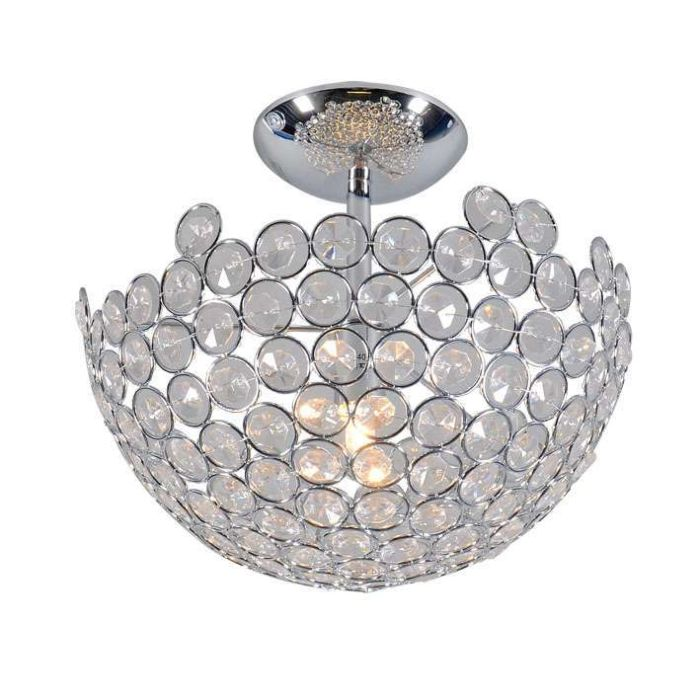 Plafonnier-Sfera-25-lumières-chrome