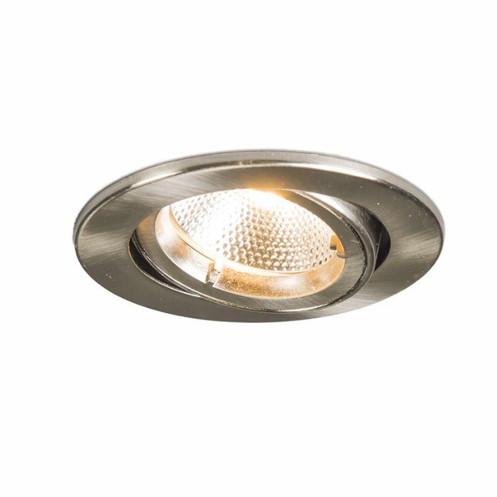Spot-encastré-LED-6W-Safe-rond-acier