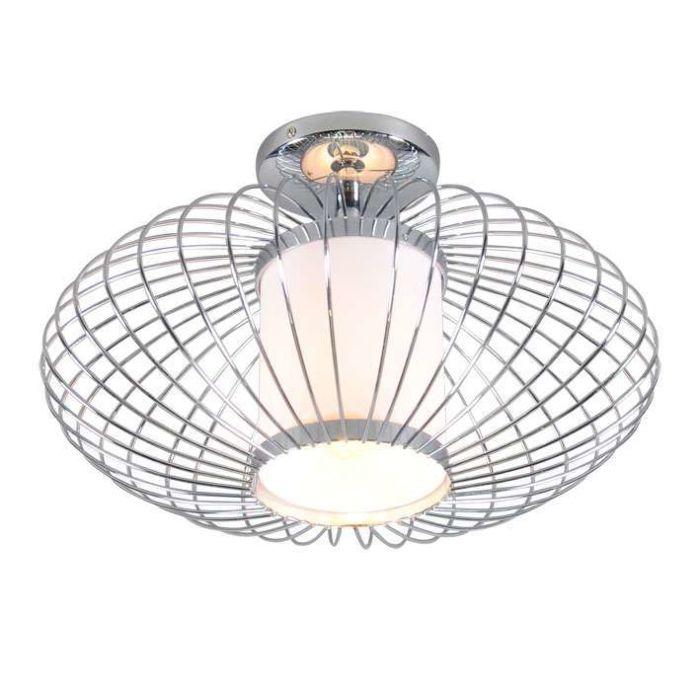 Plafonnier-Wire-Pumkin-40-cm-chrome