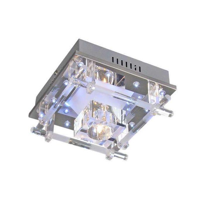 Plafonnier-Ilum-1-lumières-chrome