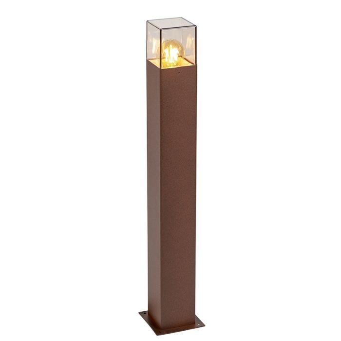 Lampadaire-industriel-extérieur-70-cm-brun-rouille-IP44---Danemark