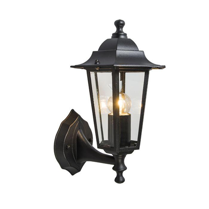 Lampe-d'extérieur-classique-noir-IP44---New-Haven-up