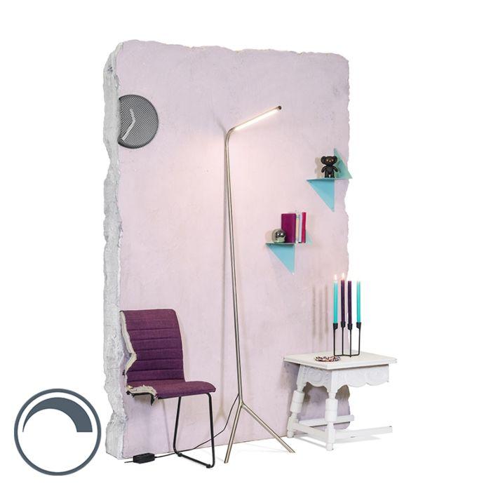 Ampadaire-design-acier-LED-incl.---Lazy-Lamp