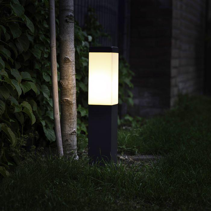 Lampadaire-d'extérieur-moderne-gris-foncé-45-cm-IP44---Malios