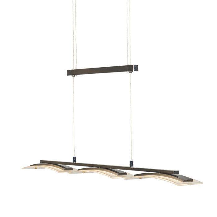 Lampe-suspendue-moderne-en-acier-à-3-ampoules-réglable-avec-LED---Hano
