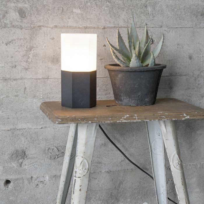 Lampe-de-table-Hexagon-noir