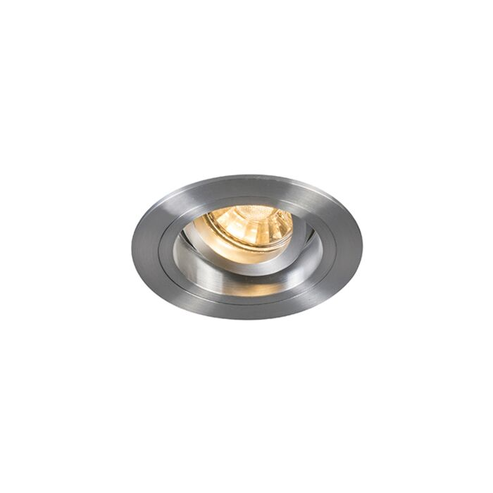 Spot-encastré-rond-pivotant-et-inclinable-en-aluminium---Mandrin