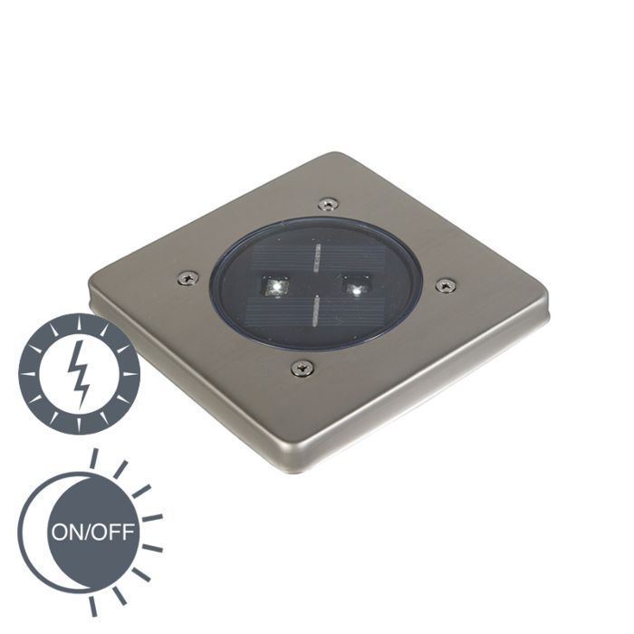 Spot-solaire-d'extérieur-moderne-avec-carré-LED---Erda