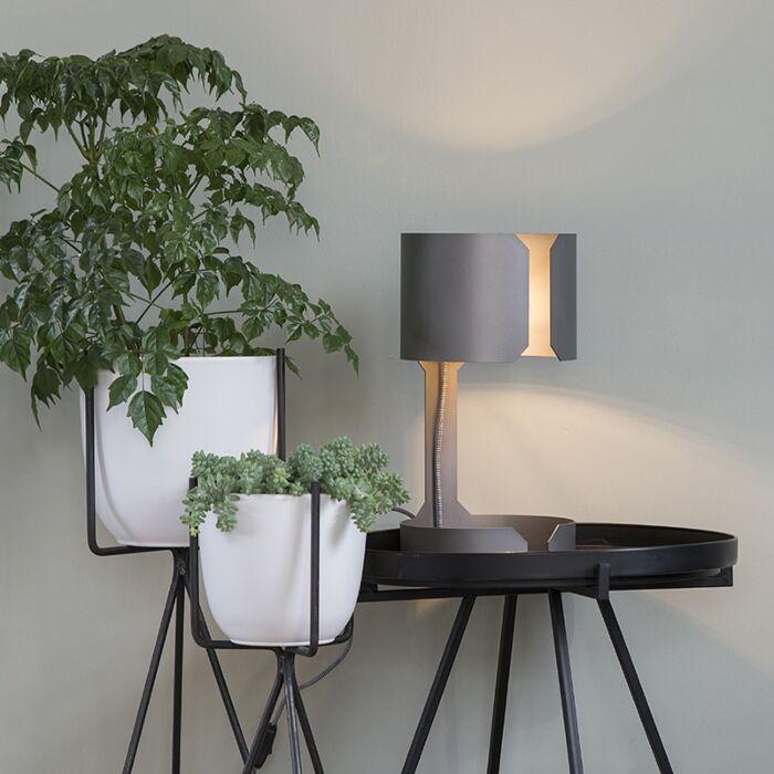 Lampe-de-table-design-en-acier-mat---Valse