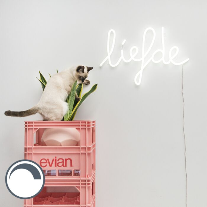Applique-blanche-avec-télécommande-avec-LED---Neon-Love