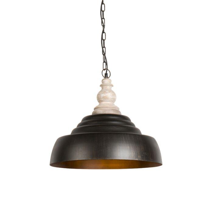 Lampe-suspendue-Trina-marron-rouille