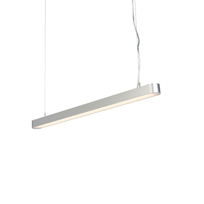 Suspension-Moederne-oblongue-100cm-argentée-incl.-LED---Duct-R