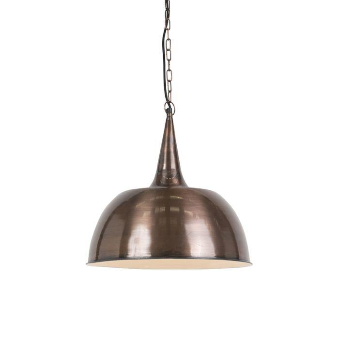 Suspension-industrielle-cuivre---Loft