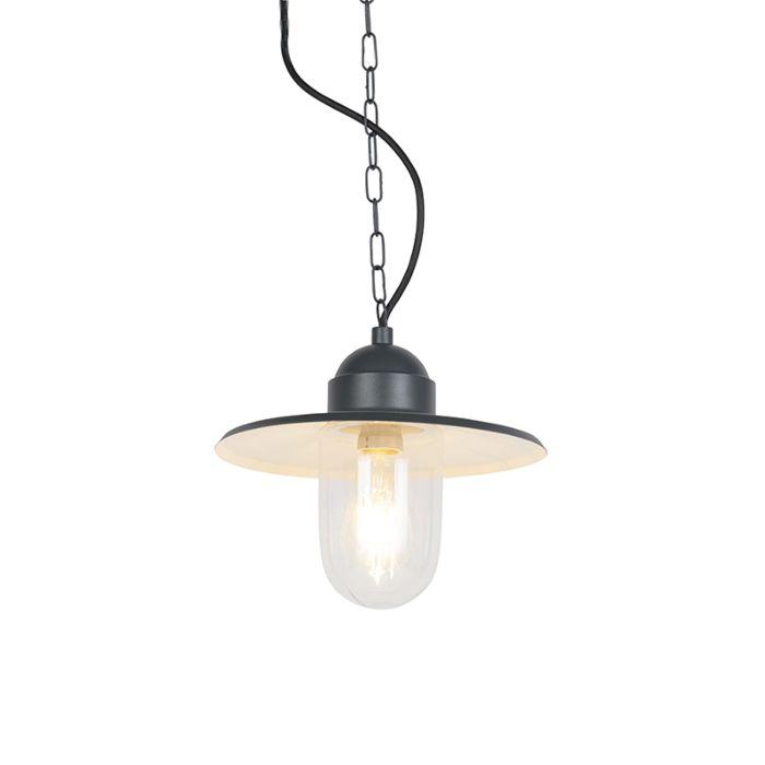 Lampe-suspendue-rurale-d'extérieur-anthracite-IP44---Kansas-graphite