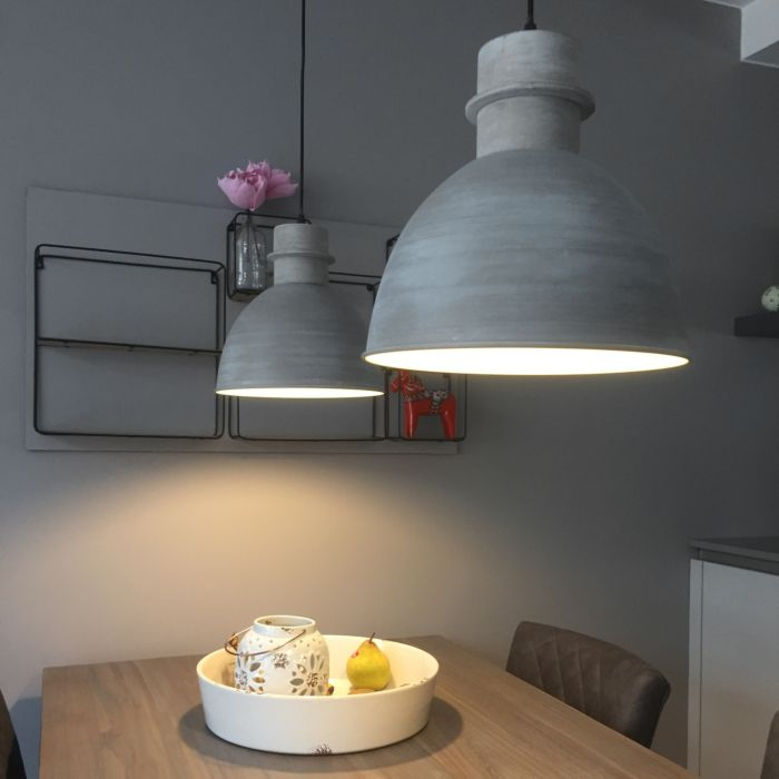 Lot-de-2-lampes-suspendues-country-gris---Dory