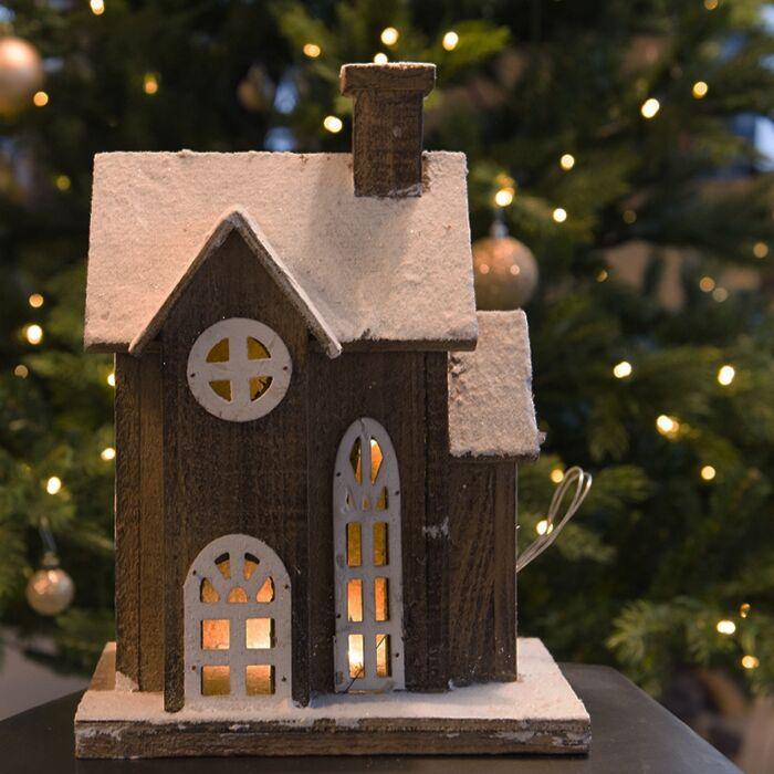 Habitations-de-Noël-maison-LED