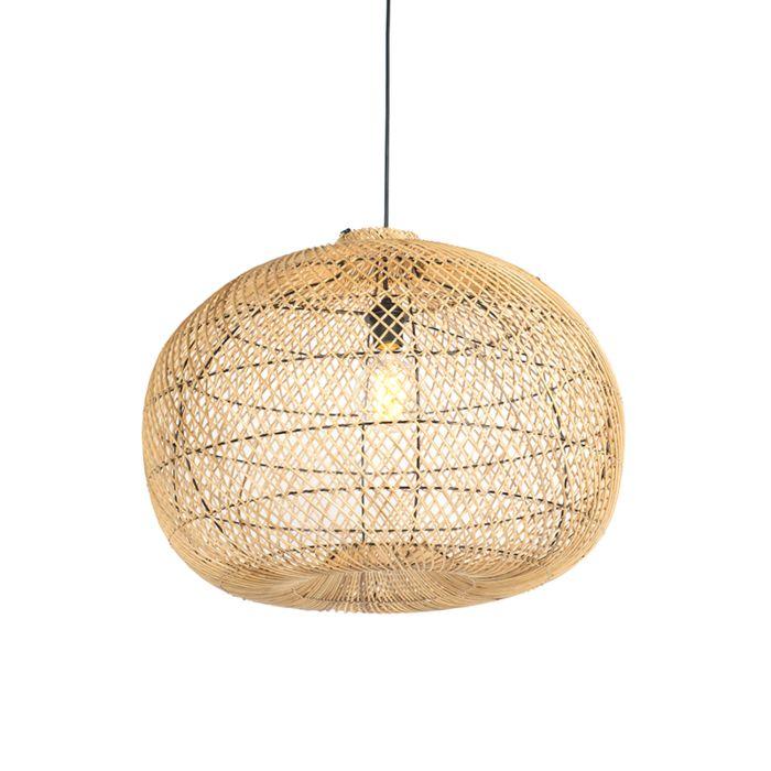 Lampe-suspension-ronde-60cm-en-rotin-–-Snake