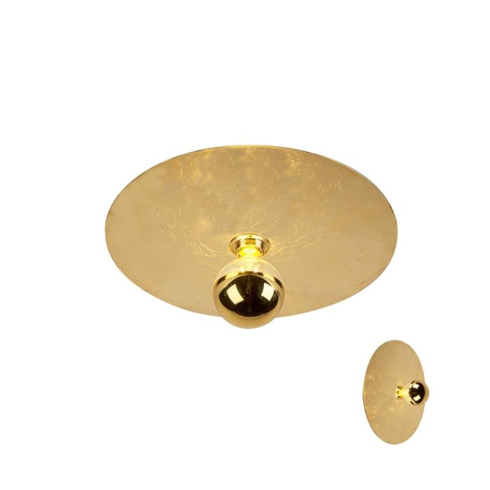 Plafonnier-moderne-or-40cm---Disque