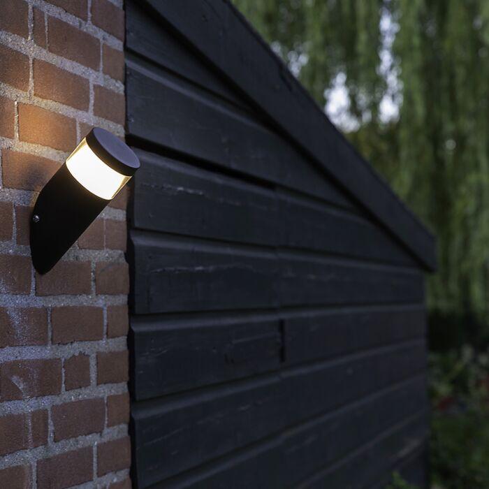 Applique-extérieure-moderne-noire-avec-LED---Prim