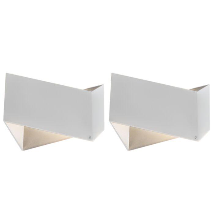 Lot-de-2-appliques-design-blanc---Fold